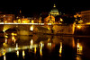 Tiber river and St Peter's Basilica