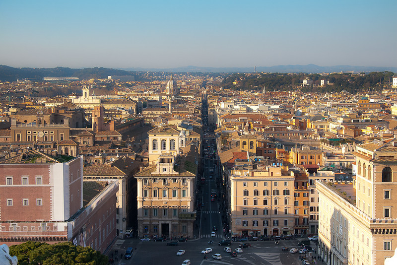 View from Monumento Nazionale a Vittorio Emanuele II