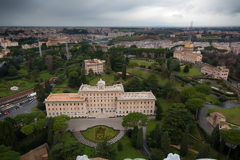 View from the roof of St Peter's Basilica