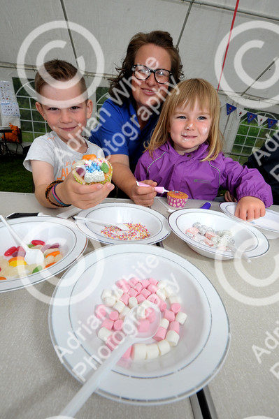 The Brecon Beacons National Park open invitation to join in its 60th Anniversary celebrations at Party in the Park at Craig-y-nos Country Park.  Brecon Beacons Education Officer Eleri Thomas with Garin Thomas aged 7 and Mali Betsan aged 4
