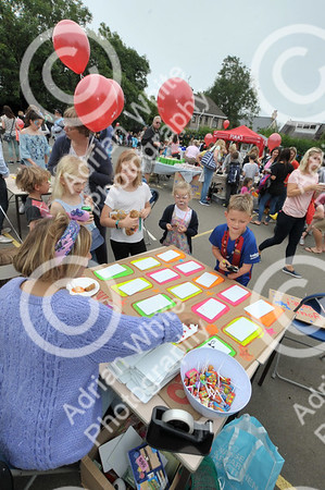 Newton Primary School, Swansea... Community fun and fundraising at the primary school's summer celebration..