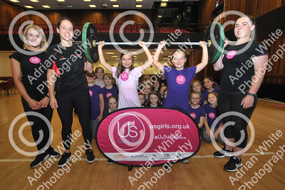 The Us Girls Team providing give-it-a-try sessions in sports including cycling, weightlifting, badminton, netball and dance at Penyrheol Leisure Centre