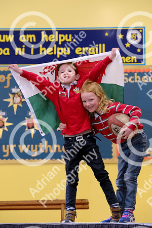 St Davids Day Supplement.. Brynmill Primary, Swansea  Freddie Batcup and Hannah Sullivan both aged 6.  Copyright © 2018 by Adrian White Photography, all rights reserved. For permission to publish - contact me via www.adrianwhitephotography.co.uk Please respect copyright laws.