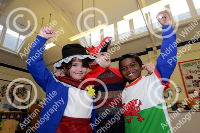 St Davids Day Supplement.. St Helens Primary  From left, Quiana Dacostamaia (7) Nicholas Roman (8) and Abhishek Bakhla (8) Byline www.adrianwhitephotography.co.uk  Copyright © 2018 by Adrian White Photography, all rights reserved. For permission to publish - contact me via www.adrianwhitephotography.co.uk Please respect copyright laws.