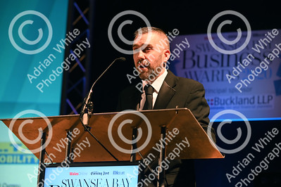 Swansea Bay Business Awards 2020 Brangwyn Hall Swansea.  Jonathan Roberts cohosting the awards.   Copyright © 2020 by Adrian White  Photography, all rights reserved. For permission to publish - contact me via www.adrianwhitephotography.co.uk Please respect copyright laws.