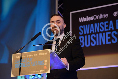 Wales Online Swansea Bay Business Awards at the Brangwyn Hall, Swansea...  South Wales Evening Post Editor Jonathan Roberts.  Copyright © 2018 by Adrian White Photography, all rights reserved. For permission to publish - contact me via www.adrianwhitephotography.co.uk Please respect copyright laws.