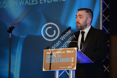 Wales Online Swansea Bay Business Awards at the Brangwyn Hall, Swansea...  South Wales Evening Post Editor Jonathan Roberts    Copyright © 2018 by Adrian White Photography, all rights reserved. For permission to publish - contact me via www.adrianwhitephotography.co.uk Please respect copyright laws.