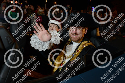 Santa comes to town for Swansea's Christmas Parade  and Christmas Light switch on.  Copyright © 2019 by Adrian White  Photography, all rights reserved. For permission to publish - contact me via www.adrianwhitephotography.co.uk Please respect copyright laws.