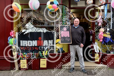 Tenby, West Wales prepares for this year's world renowned Ironman competition... Ian Thomas owner of Clarice Toyshop Upper Frog Street, counting down the days.