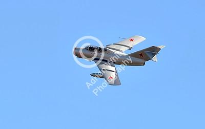 SWANSEA / Paul Turner Sunday 3rd July 2016 Wales National Air Show Swansea Bay MiG-15UTI 'Red 18'