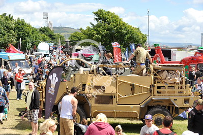 SWANSEA / Paul Turner Sunday 3rd July 2017 South Wales Air Show, Swansea Bay Military hardware on display.