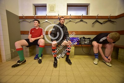 Club Rugby in Wales... Llanybydder RFC - Club changing rooms ahead of midweek training.