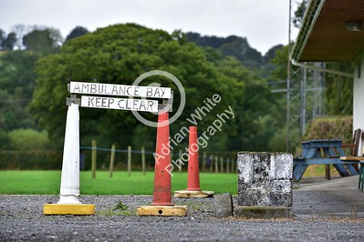 Club Rugby in Wales... Llanybydder RFC rugby ground.