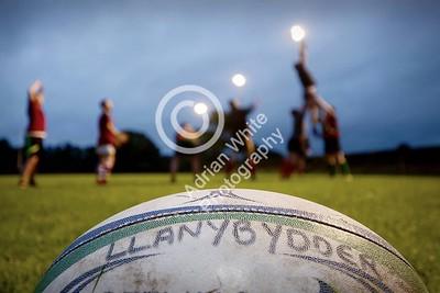 Club Rugby in Wales... Llanybydder RFC - Midweek training session.