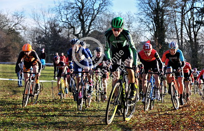 SWANSEA / Copyright Adrian White Sunday 4th December 2016 Strong contender Steve James leading the pack from the start...Strong line up for 2016 Welsh Cyclo Cross Championships in Swansea's Singleton Park. **** BYLINE wwwclick4prints.com