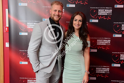 West Wales Community Awards 2018 at Parc y Scarlets, Llanelli. Sara Lee and Kieran Williams  PLEASE BYLINE.. adrianwhitephotography.co.uk  Copyright © 2018 by Adrian White  Photography, all rights reserved. For permission to publish - contact me via www.adrianwhitephotography.co.uk Please respect copyright laws.