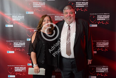 West Wales Community Awards 2018 at Parc y Scarlets, Llanelli. Elaine Mends and Peter Kent  PLEASE BYLINE.. adrianwhitephotography.co.uk  Copyright © 2018 by Adrian White  Photography, all rights reserved. For permission to publish - contact me via www.adrianwhitephotography.co.uk Please respect copyright laws.