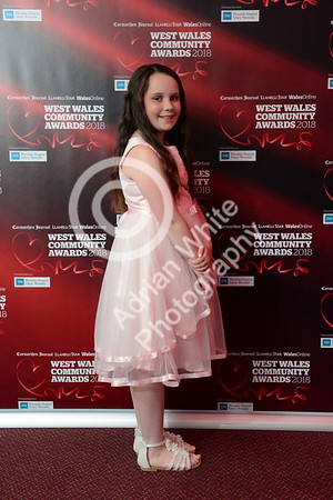 West Wales Community Awards 2018 at Parc y Scarlets, Llanelli. Mia Thorne  PLEASE BYLINE.. adrianwhitephotography.co.uk  Copyright © 2018 by Adrian White  Photography, all rights reserved. For permission to publish - contact me via www.adrianwhitephotography.co.uk Please respect copyright laws.