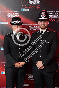 West Wales Community Awards 2018 at Parc y Scarlets, Llanelli. Special Constables, Melisa Kirby and Rhys Jones  PLEASE BYLINE.. adrianwhitephotography.co.uk  Copyright © 2018 by Adrian White  Photography, all rights reserved. For permission to publish - contact me via www.adrianwhitephotography.co.uk Please respect copyright laws.