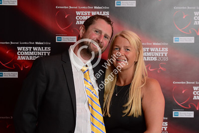 West Wales Community Awards 2018 at Parc y Scarlets, Llanelli. Wyn Jenkins and Lisa Cameron  PLEASE BYLINE.. adrianwhitephotography.co.uk  Copyright © 2018 by Adrian White  Photography, all rights reserved. For permission to publish - contact me via www.adrianwhitephotography.co.uk Please respect copyright laws.