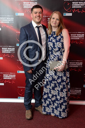 West Wales Community Awards 2018 at Parc y Scarlets, Llanelli. Thomas and Hannah Hyde  PLEASE BYLINE.. adrianwhitephotography.co.uk  Copyright © 2018 by Adrian White  Photography, all rights reserved. For permission to publish - contact me via www.adrianwhitephotography.co.uk Please respect copyright laws.