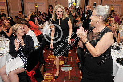 SWANSEA / Copyright Adrian White Friday 7th October 2016 Woman in Business Awards 2016, The Marriot Hotel. Woman of the Year 2016, Alison Orells.