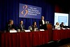 San Antonio, TX - SABCS 2008 San Antonio Breast Cancer Symposium: Speakers address the Biomarkers press conference at the 2008 San Antonio Breast Cancer Symposium here today, Friday December 12, 2008. Over 8,000 Physicians, researchers and healthcare professionals from over 50 countries attended the meeting sponsored by American Association of Cancer Researchers (AACR) and the University of Texas, which features the latest research on Breast Cancer Treatment and Prevention. Date: Friday December 12, 2008 Photo by © SABCS/Todd Buchanan 2008 Technical Questions: todd@toddbuchanan.com; Phone: 612-226-5154.