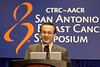 San Antonio, TX - SABCS 2008 San Antonio Breast Cancer Symposium: Shozo Ohsumi, M.D., Ph.D., chief of breast oncology at NHO Shikoku Cancer Center, Matsuyama, Japan  addresses the Patient Management & Quality of Life press conference on the study:Abstract #1136. Health-related quality-of-life and psychological distress of postmenopausal breast cancer patients after surgery during the randomized trial, N-SAS BC 03, comparing further tamoxifen with switching to anastrozole after adjuvant tamoxifen for one to four years: the final resultsat the 2008 San Antonio Breast Cancer Symposium here today, Friday December 12, 2008. Over 8,000 Physicians, researchers and healthcare professionals from over 50 countries attended the meeting sponsored by American Association of Cancer Researchers (AACR) and the University of Texas, which features the latest research on Breast Cancer Treatment and Prevention. Date: Friday December 12, 2008 Photo by © SABCS/Todd Buchanan 2008 Technical Questions: todd@toddbuchanan.com; Phone: 612-226-5154.