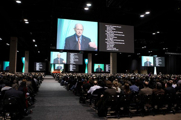San Antonio, TX - SABCS 2008 San Antonio Breast Cancer Symposium: General views at the 2008 San Antonio Breast Cancer Symposium here today, Friday December 12, 2008. Over 8,000 Physicians, researchers and healthcare professionals from over 50 countries attended the meeting sponsored by American Association of Cancer Researchers (AACR) and the University of Texas, which features the latest research on Breast Cancer Treatment and Prevention. Date: Friday December 12, 2008 Photo by © SABCS/Todd Buchanan 2008 Technical Questions: todd@toddbuchanan.com; Phone: 612-226-5154.