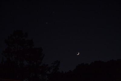 Moon, Venus, and Jupiter