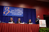 "San Antonio, TX - SABCS 2010 San Antonio Breast Cancer Symposium: Press Conference - Dr. Jose Besalga addresses the ""Targeting HER2 Beyond Herceptin"" Press Conference at the 2010 San Antonio Breast Cancer Symposium here today, Friday December 10, 2010. Over 9,000 physicians, researchers, patient advocates and healthcare professionals from over 90 countries attended the meeting which features the latest research on breast cancer treatment and prevention. Date: Friday December 10, 2010 Photo by © SABCS/Todd Buchanan 2010 Technical Questions: todd@medmeetingimages.com; Phone: 612-226-5154."