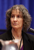 San Antonio, TX - SABCS 2011 San Antonio Breast Cancer Symposium: Irva Hertz-Picciotto, PhD, MPH discusses Breast Cancer and the Environment: A Life Course Approach - Report Release from an IOM Committee  during the Special Report Session at the 2011 San Antonio Breast Cancer Symposium here today, Wednesday December 7, 2011. Over 9,000 physicians, researchers, patient advocates and healthcare professionals from over 90 countries attended the meeting which features the latest research on breast cancer treatment and prevention. Date: Wednesday December 7, 2011 Photo by © SABCS/Todd Buchanan 2011 Technical Questions: todd@medmeetingimages.com; Phone: 612-226-5154.