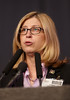 San Antonio, TX - SABCS 2011 San Antonio Breast Cancer Symposium: Teresa K. Woodruff, PhD discusses Oncofertility: Translation in multidimensions during the Challenges in the Care of Special Populations with Breast Cancer Education Session at the 2011 San Antonio Breast Cancer Symposium here today, Tuesday December 6, 2011. Over 9,000 physicians, researchers, patient advocates and healthcare professionals from over 90 countries attended the meeting which features the latest research on breast cancer treatment and prevention. Date: Tuesday December 6, 2011 Photo by © SABCS/Todd Buchanan 2011 Technical Questions: todd@medmeetingimages.com; Phone: 612-226-5154.