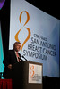 San Antonio, TX - SABCS 2011 San Antonio Breast Cancer Symposium: Gabriel N Hortobagyi discusses S3-7.  Everolimus for postmenopausal women with advanced breast cancer: updated results of the BOLERO-2 phase III trial during the General Session 3 at the 2011 San Antonio Breast Cancer Symposium here today, Thursday December 8, 2011. Over 9,000 physicians, researchers, patient advocates and healthcare professionals from over 90 countries attended the meeting which features the latest research on breast cancer treatment and prevention. Date: Thursday December 8, 2011 Photo by © SABCS/Todd Buchanan 2011 Technical Questions: todd@medmeetingimages.com; Phone: 612-226-5154.