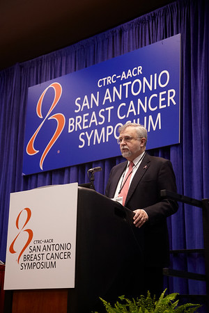 San Antonio, TX - SABCS 2011 San Antonio Breast Cancer Symposium: Gabriel N Hortobagyi discusses the BOLERO-2 phase III trial during the Press Conference at the 2011 San Antonio Breast Cancer Symposium here today, Thursday December 8, 2011. Over 9,000 physicians, researchers, patient advocates and healthcare professionals from over 90 countries attended the meeting which features the latest research on breast cancer treatment and prevention. Date: Thursday December 8, 2011 Photo by © SABCS/Todd Buchanan 2011 Technical Questions: todd@medmeetingimages.com; Phone: 612-226-5154.