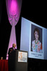San Antonio, TX - SABCS 2011 San Antonio Breast Cancer Symposium: Larry Norton, MD memorializes Evelyn Lauder during the Opening Session at the 2011 San Antonio Breast Cancer Symposium here today, Wednesday December 7, 2011. Over 9,000 physicians, researchers, patient advocates and healthcare professionals from over 90 countries attended the meeting which features the latest research on breast cancer treatment and prevention. Date: Wednesday December 7, 2011 Photo by © SABCS/Todd Buchanan 2011 Technical Questions: todd@medmeetingimages.com; Phone: 612-226-5154.