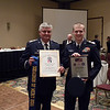 Capt. John E. Kimberly, representing the Griffin Composite Squadron as winner of the Squadron of Merit for 2011. Also pictures is Cadet Ryan O'Connor, Griffin Composite Squadron Cadet, and winner of the Cadet of the Year for 2011