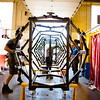 Architecture and Planning Students Work Building Elevator B in the Parker Shop<br /> <br /> Photograph: Douglas Levere