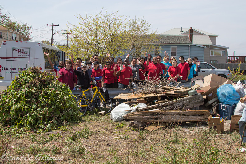 Earth day clean up with the crew.