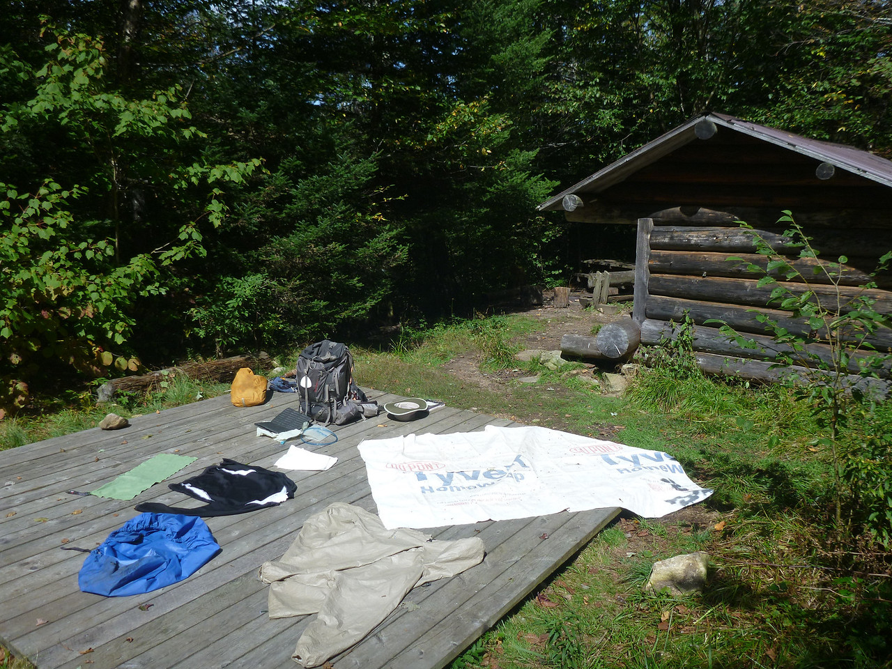 Drying out at Peru Peak Shelter