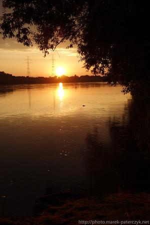 Złoty zachód słońca nad Wisłą / Golden sunset over Wisła River