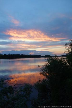Zachód słońca nad Wisłą / Sunset over Wisła River