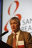 "`San Antonio, TX - SABCS 2014 San Antonio Breast Cancer Symposium - Robertson JFR discusses ""S6-04. Fulvestrant 500 mg versus anastrozole as first-line treatment for advanced breast cancer: Overall survival from the Phase II 'FIRST' study"" during General Session 6 here today, Friday December 12, 2014. during the San Antonio Breast Cancer Symposium being held at the Henry B. Gonzalez Convention Center in San Antonio, TX. Over 7,500 physicians, researchers, patient advocates and healthcare professionals from over 90 countries attended the meeting which features the latest research on breast cancer treatment and prevention. Photo by © MedMeetingImages/Todd Buchanan 2014  Technical Questions: todd@medmeetingimages.com"