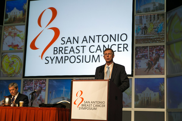 San Antonio, TX - SABCS 2014 San Antonio Breast Cancer Symposium - C. Kent Osborne addresses the opening plenary session here today, Wednesday December 10, 2014. during the San Antonio Breast Cancer Symposium being held at the Henry B. Gonzalez Convention Center in San Antonio, TX. Over 7,500 physicians, researchers, patient advocates and healthcare professionals from over 90 countries attended the meeting which features the latest research on breast cancer treatment and prevention. Photo by © MedMeetingImages/Todd Buchanan 2014  Technical Questions: todd@medmeetingimages.com
