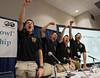First place winners from Universidad Nacional Autonoma de Mexico (L-R) Cesar Luis Meza-Orozco, Alonso Magos-Cruz, Eder Castaneda-Correa and Ernesto Quetzalli Magana-Arellano celebrate Student PetroBowl