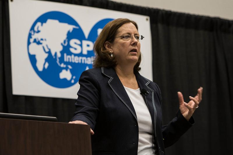 SPE President, Janeen Judah, speaks KEY Club Breakfast
