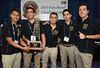 First place winners from Universidad Nacional Autonoma de Mexico (L-R) Alonso Magos-Cruz, Ernesto Quetzalli Magana-Arellano, Eder Castaneda-Correa, Mario Fernando Cordova-Gonzalez and Cesar Luis Meza-Orozco Student PetroBowl