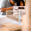 Architecture Students Building Model