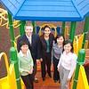 Researchers working on the study are, from left, Li Yin, James Roemmich, Samina Raja, Sol-Hyon Baek and Christina Lobarinas.