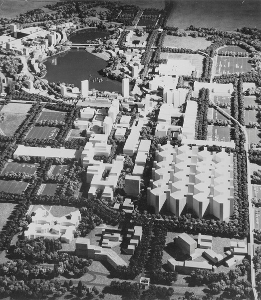 Model of N Campus proposal, University Archives, call number: 13:1 (3)